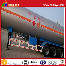 45000L Liquid Gas Transport Carbon Steel Semi Tank Trailer